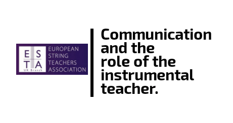Communication and the role of the instrumental teacher