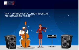 Why is continuous development important for instrumental teachers?