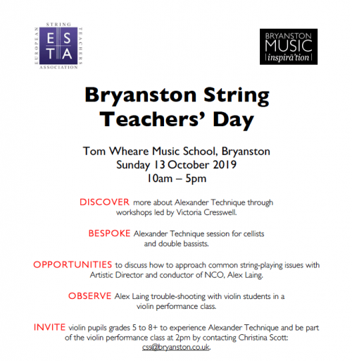 Bryanston String Teachers' Day